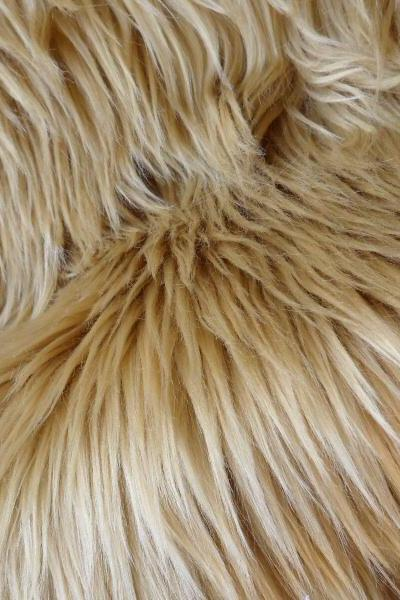 Faux Fur Camel color - dark beige fur - brown sugar craft material 10 x 17 inches