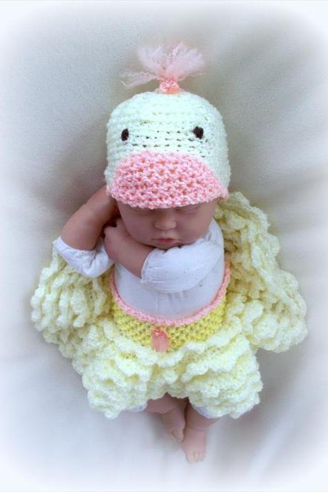 Baby Duck Skirt and Hat set