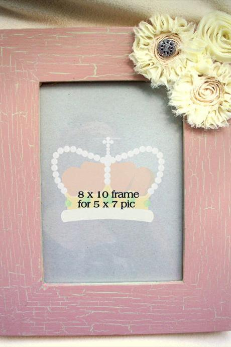 Shabby Chique Nursery Picture Frame 5 x 7 window
