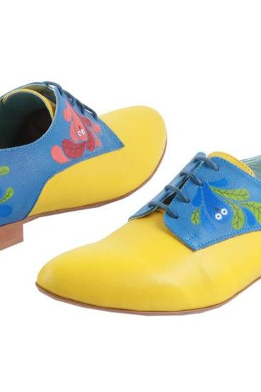 Custom made - Hand painted Shoes Happy Owls