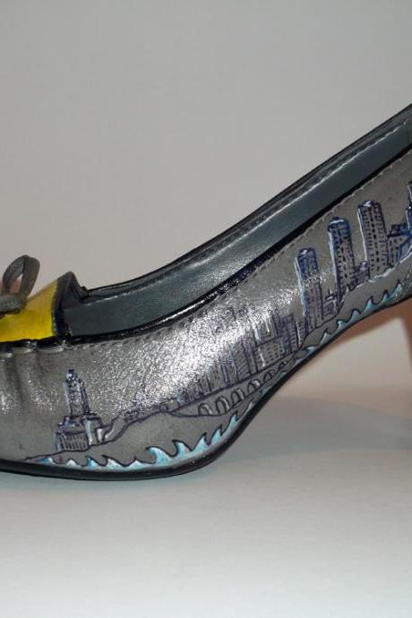 Custom made - Hand painted Shoes Manhattan