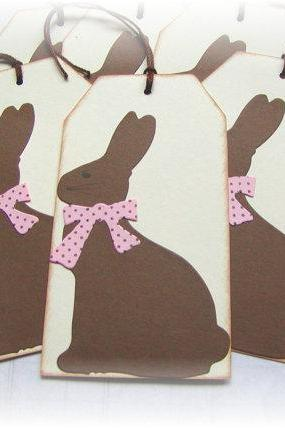 Chocolate Easter Bunny Tags (6)