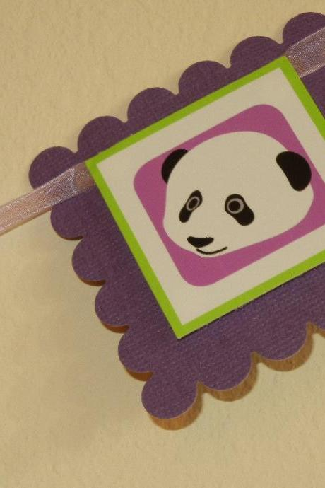 First Year Photo Clips, First Year Banner, Panda Birthday Party, Any Theme