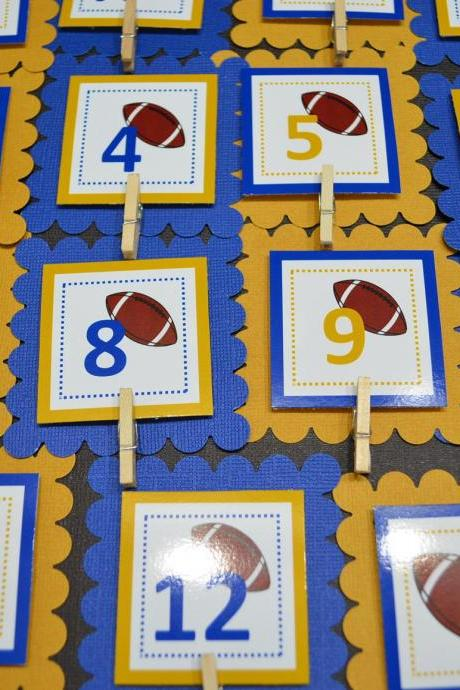First Year Photo Clips, First Year Banner, Football Birthday Party, Any Theme