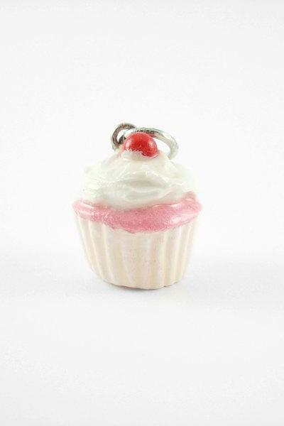Miniature Charm White Cherry Cupcake