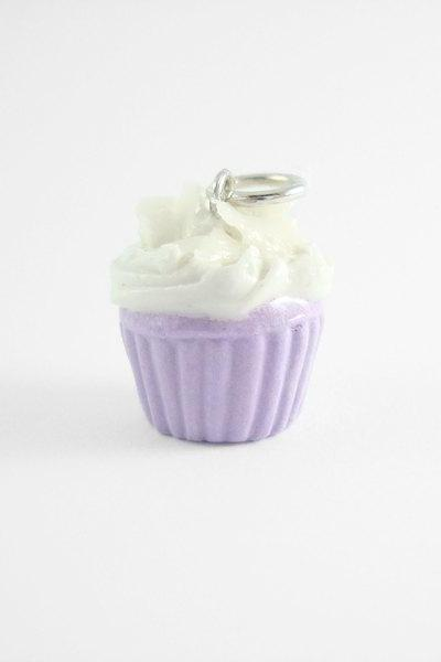 Miniature Charm Taro Cupcake with Pink Strap