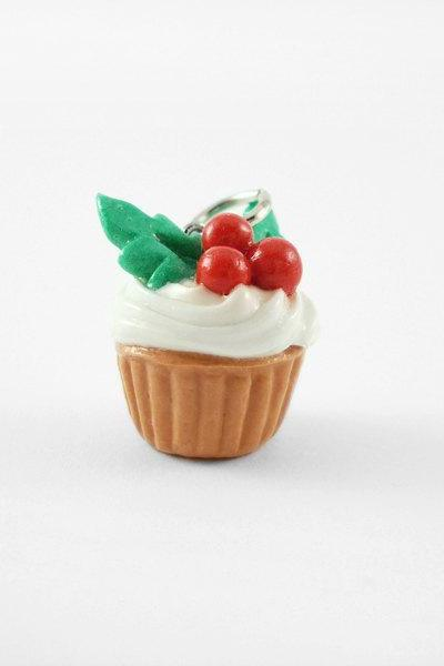 Miniature Charm Holly Cupcake