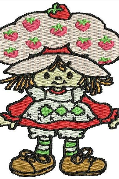 Strawberry Shortcake Machine Embroidery Pattern