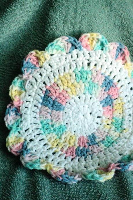 Washcloth-Crocheted - Rainbow Washcloth