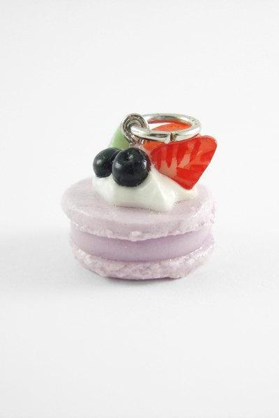 Miniature Charm Purple Macaroon