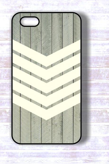 Iphone 5 Cases White Geometric Stripes on Wood iPhone Case, Iphone Hard Covers