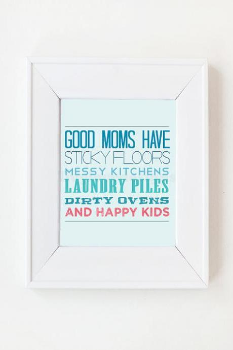 8x10 Good Moms have list print