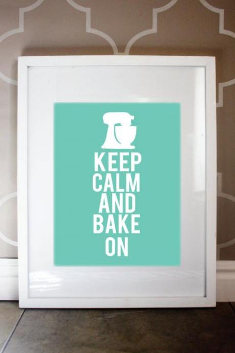 8x10 Keep Calm and Bake on Print