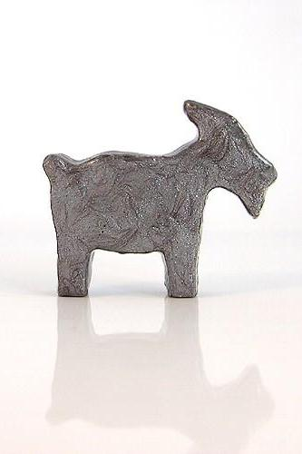 Antique Silver Goat Figurine