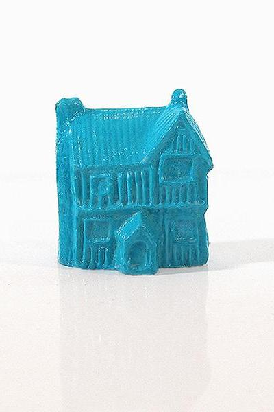 Turquoise Blue Mini German Full Timber House