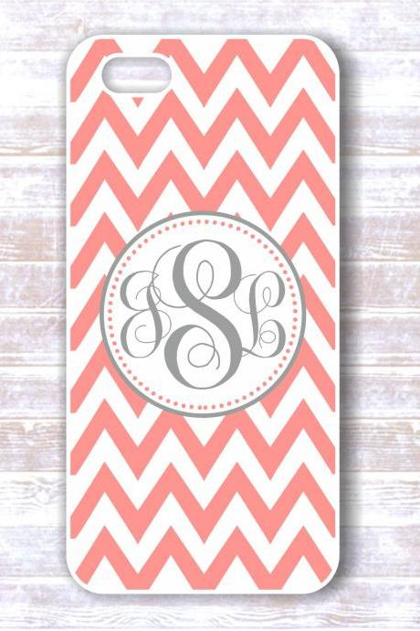 Monogrammed chevron Iphone 4/4S case - Personalized Hard Cases for iphones