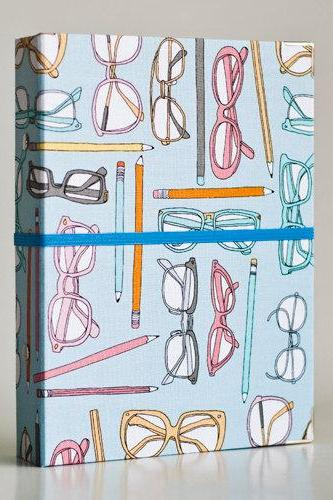 Glasses and Pencil Binder Folder with 2 refill packs