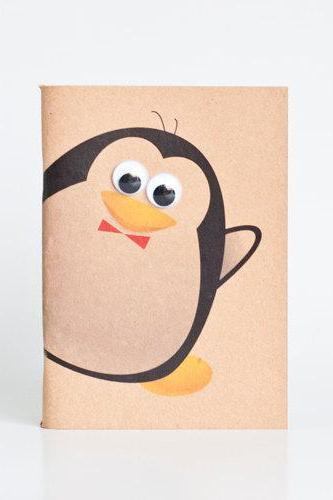 Animal Series Kraft Paper Booklets - Penguin