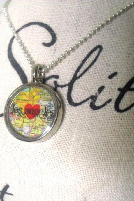 Los Angeles Map Necklace
