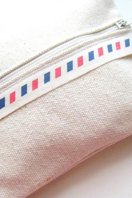 Airmail multipurpose zipped purse