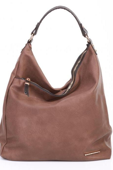 Brown Leather Handbag, Brown Tote, Leather Tote, Brown Purse, Winter Handbag, Woman Gift