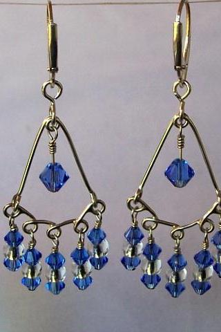 Sterling Silver Chandelier Earring with Swarovski Elements!!!