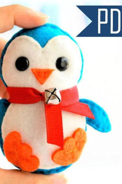 Baby Penguin Christmas Ornament PDF Sewing pattern A656