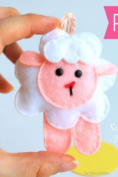 Baby Sheep Sewing Pattern - Toy Doll Softie Sewing Pattern - PDF Sewing Pattern Sewing pattern and Instructions A776