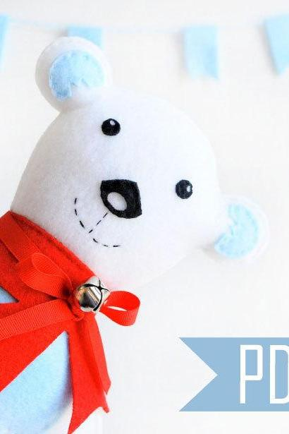 Baby Polar Bear Sewing Pattern, PDF Sewing ePattern A424