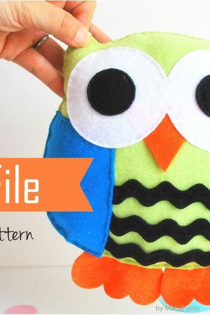 Owl Pillow PDF Sewing pattern and Instructions A774