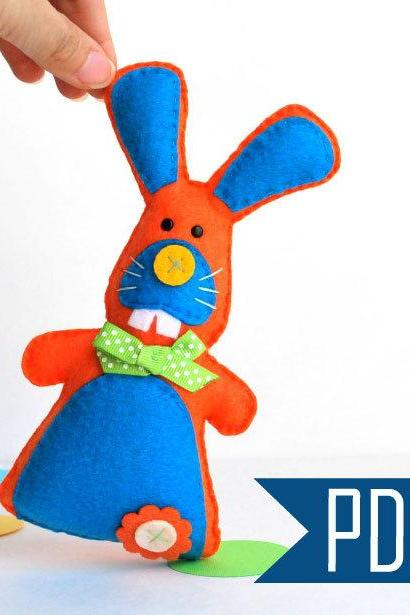 Baby Bunny Sewing pattern - PDF ePATTERN -Plush Toy Rabbit A506