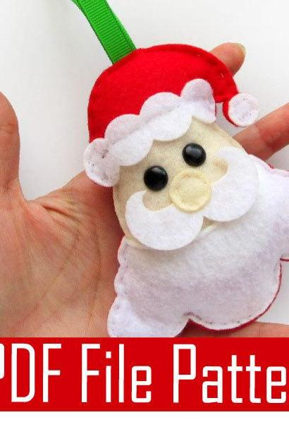 Santa Claus Sewing pattern - PDF ePATTERN , Christmas Ornament A492