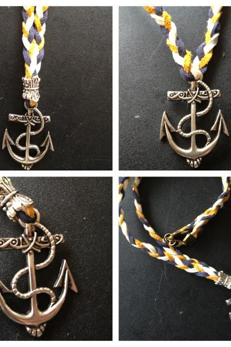 Braided Anchor Necklace