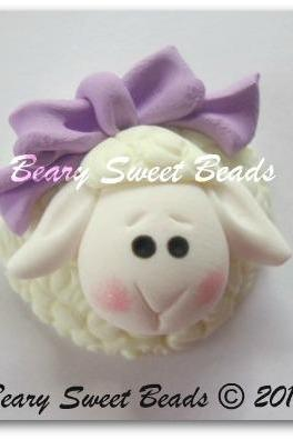 Sweet Easter Lamb Lavender Bow