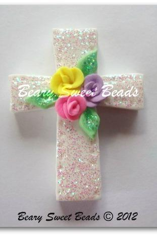 Easter Cross with Roses NO HOLES