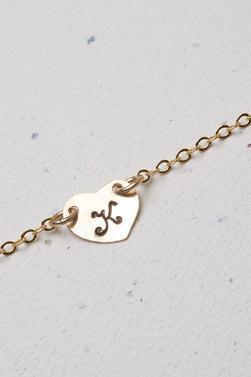 Heart initial,14K Gold Filled necklace,Custom initial,Monogram necklace,Bridesmaid gifts,Wedding jewelry,birthday