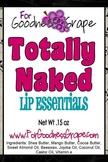 Totally Naked Lip Balm - No Flavor - 100% All Natural Lip Balm - The Best Lip Balm
