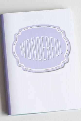 Wonderful Notebook / Journal - Compliment Series