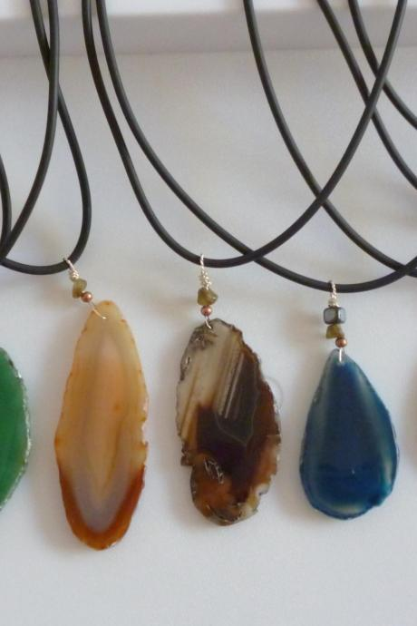 Agate Pendant with necklace