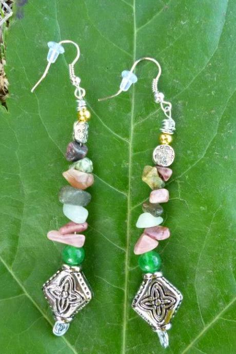 Mixed love Gemstone Earrings.