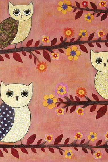 Art Print - Three Wise Owls
