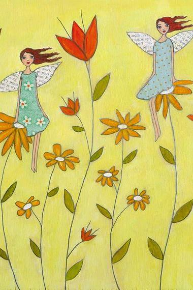 Art Print - Flower Fairies