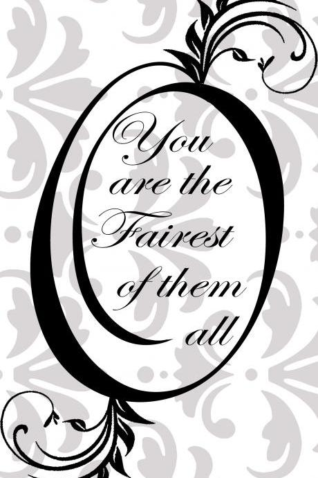 Mirror, Mirror on the wall, you are the fairest of them all Vinyl Decal - UK Seller