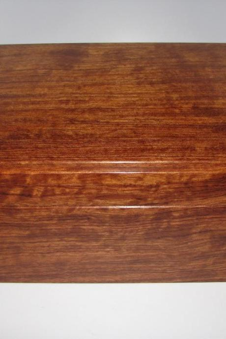 Smart and Sophisticated Figured Bubinga Keepsake Box. 11' x 8' x 5'