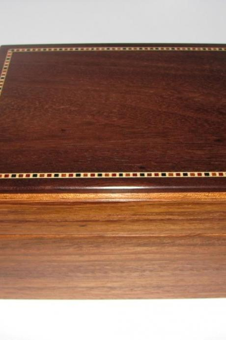 Precious Little Keepsake Box Featuring an Inlaid Top. 7' x 5.5' x 4'