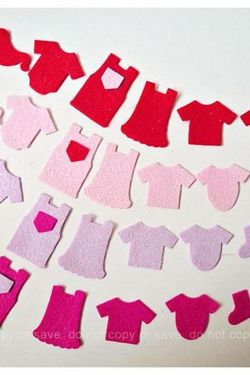 Little children clothes felt pieces (9)
