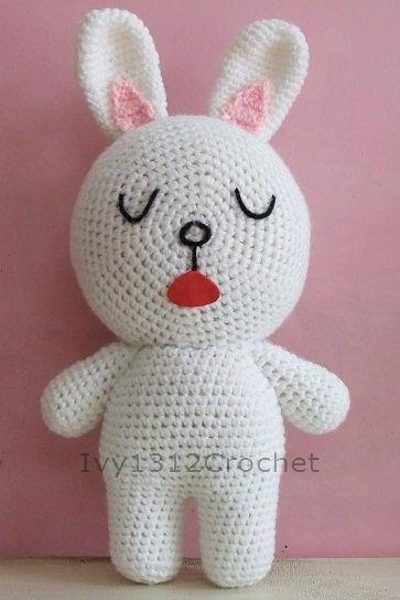Cony Rabbit - Handmade Amigurumi crochet doll Home decor birthday gift Baby shower toy