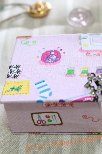 Memory Box in cutie pink fabric
