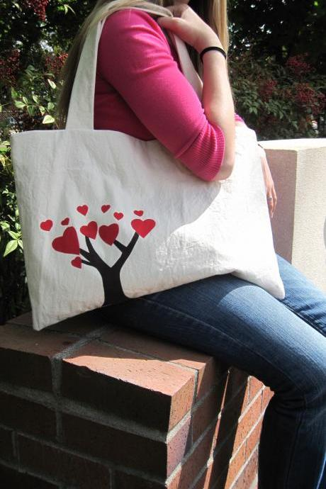 The Friendship Bag in Red - BKD Signature Original Design - Listing for TWO Linking Totes