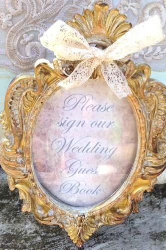 Sign our Wedding Guest book Sign - Vintage style